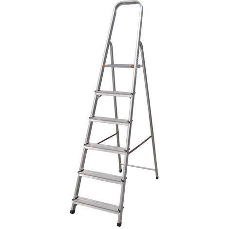 Nawa Escalera Domestica de Aluminio 6 Peldaños EN 131 Capacidad M·x. 150 kg