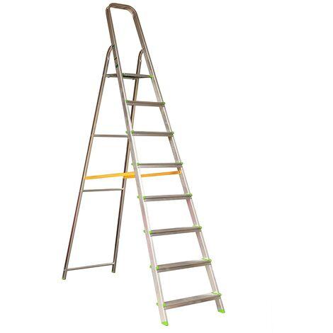 Nawa Escalera Domestica de Aluminio 8 Peldaños EN 131 Capacidad M·x. 150 kg
