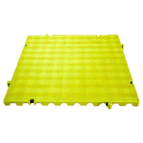Náyade® Block Losa Tarima desmontable 50x50x2,5 cm. Color Amarillo. Sin Orificio. *4 Uds. *1m2.