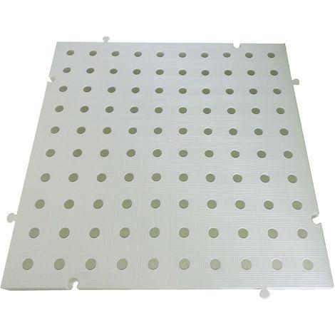 Náyade® Block Losa Tarima desmontable 50x50x2,5 cm. Color Blanco. Con Orificio. *4 Uds. *1m2.