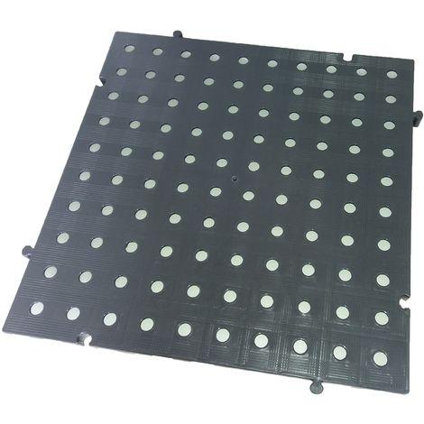 Náyade® Block Losa Tarima desmontable 50x50x2,5 cm. Color Gris. Con Orificio. *4 Uds. *1m2.