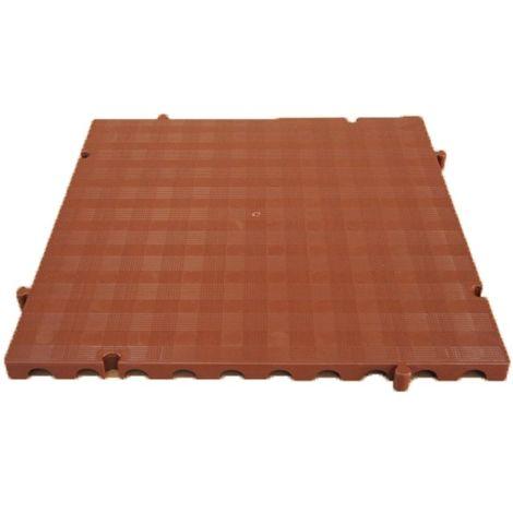 Náyade® Block Losa Tarima desmontable 50x50x2,5 cm. Color Marrón. Sin Orificio. *4 Uds. *1m2.