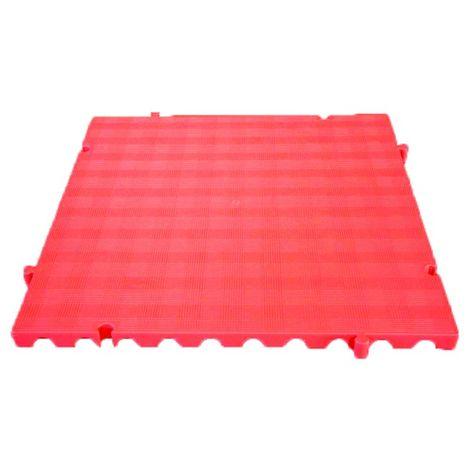 Náyade® Block Losa Tarima desmontable 50x50x2,5 cm. Color Rojo. Sin Orificio. *4 Uds. *1m2.
