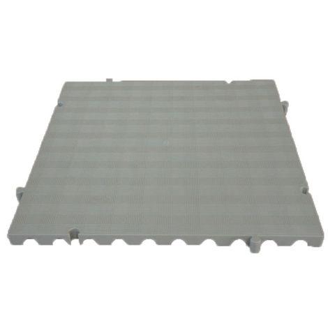 Náyade® Block Losa Tarima ECOLÓGICA desmontable 50x50x2,5 cm. Color Gris. Sin Orificio. *4 Uds. *1m2.
