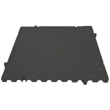 Náyade® Block Losa Tarima ECOLÓGICA desmontable 50x50x2,5 cm. Color Negro. Sin Orificio. *4 Uds. *1m2.
