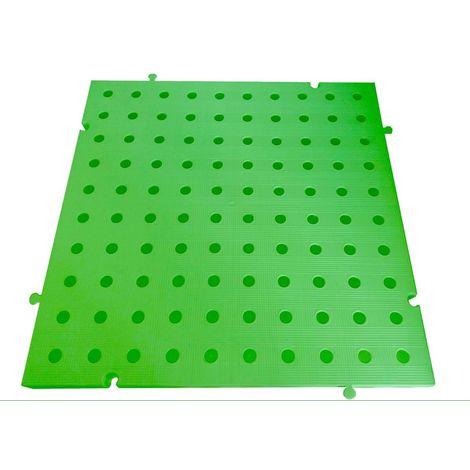 Náyade® Block Losa Tarima ECOLÓGICA desmontable 50x50x2,5 cm. Color Verde. Con Orificio. *4 Uds. *1m2.