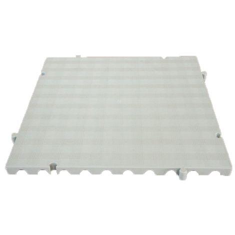 Náyade® Block Losa Tarima Goma desmontable 50x50x2,5 cm. Color Blanco. Sin Orificio. *4 Uds. *1m2.