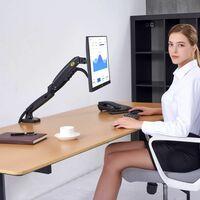 """NB F80 – Support de bureau avec ressort à gaz pour écrans LCD 17""""- 27"""""""