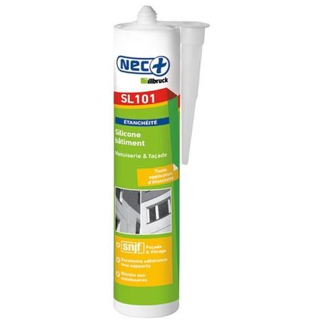 NEC+ - Mastic bâtiment silicone 310mL - blanc