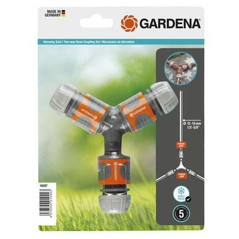 """Nécessaire de dérivation en Y pour arrosage 13 mm (1/2"""") et 15 mm (5/8"""") - GARDENA 18287-20"""