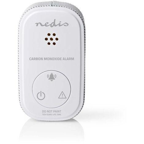 Nedis Alarme de monoxyde de carbone   Alimenté par pile   Conformité EN: EN 50291   Avec bouton pause   Avec bouton de test   85 dB   Blanc NE550693168