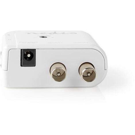 Nedis Amplificateur CATV   Gain: 15 dB   50-790 MHz   Nombre de sorties: 2   Prendre le contrôle   Blanc NE550706477