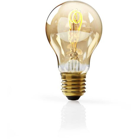 Nedis Bombilla de Filamento LED Atenuable E27 de Estilo Vintage | A60 | 3 W | 100 lm NE550672162