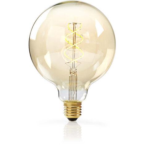 Nedis Bombilla de Filamento LED Atenuable E27 de Estilo Vintage | G125 | 5 W | 260 lm NE550672164