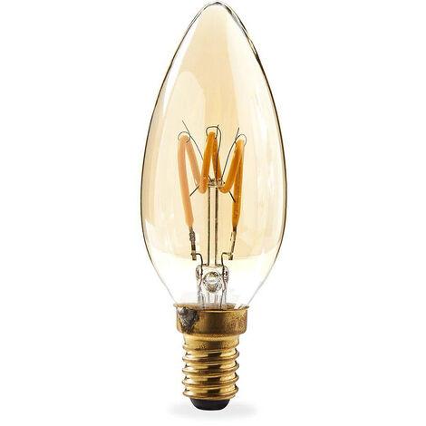 Nedis Bombilla de Filamento LED E14 de Estilo Retro | Vela | 3 W | 100 lm NE550685127
