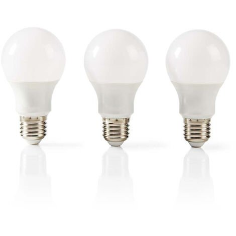 Nedis Bombilla LED E27 | A60 | 5,7 W | 470 lm | Paquete de 3 unidades NE550677954