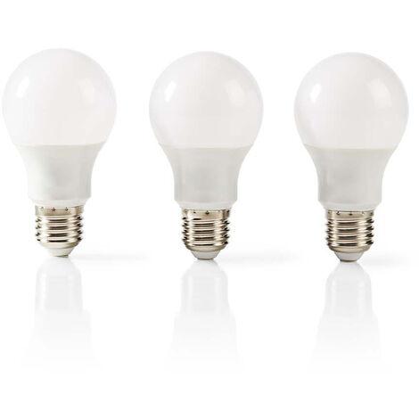 Nedis Bombilla LED E27 | A60 | 9,4 W | 806 lm | Paquete de 3 unidades NE550677955