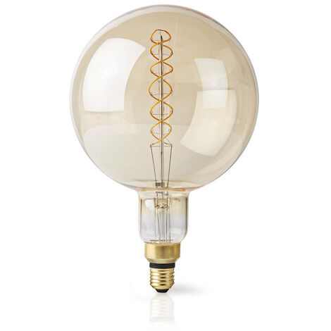 Nedis Bombilla LED retro de filamento E27, 5 W, 280 lm, 2000 K NE550691862