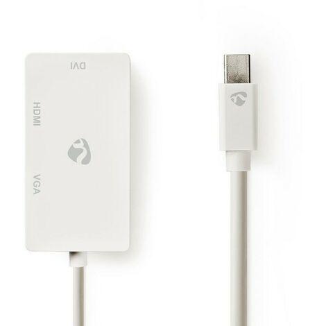 NEDIS Câble Adaptateur Multiport Mini DisplayPort Mini DisplayPort Mâle - VGA Femelle / DVI-D Femelle à 24+1 Broches / Entrée