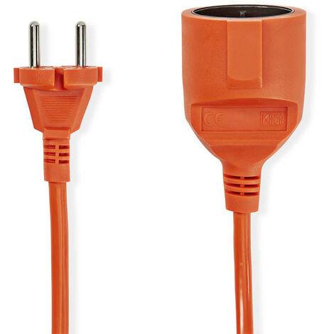 Nedis Cable Alargador de Alimentación | 15 m | H05VV-F 2X1.5 | Naranja NE550681905