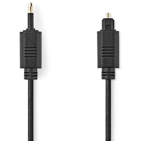 NEDIS Câble Audio Optique TosLink Mâle - Optique Mâle 3,5 mm 1,0 m Noir
