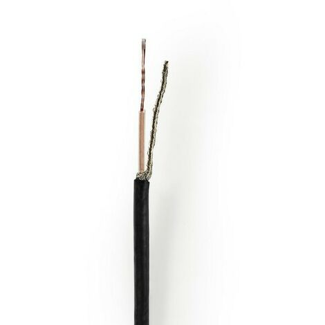 NEDIS Câble coaxial RG174 10,0 m Mini-Bobine Noir