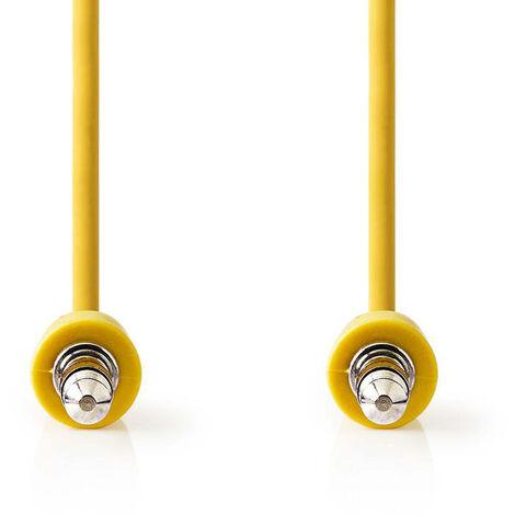 Nedis Cable de Audio Estéreo | Macho de 3,5 mm - Macho de 3,5 mm | 1,0 m | Amarillo NE550677603