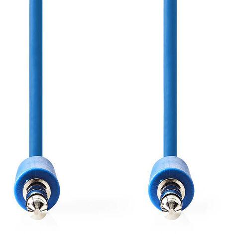 Nedis Cable de Audio Estéreo | Macho de 3,5 mm - Macho de 3,5 mm | 1,0 m | Azul NE550677595