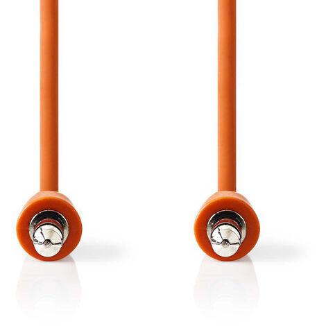 Nedis Cable de Audio Estéreo | Macho de 3,5 mm - Macho de 3,5 mm | 1,0 m | Naranja NE550677596