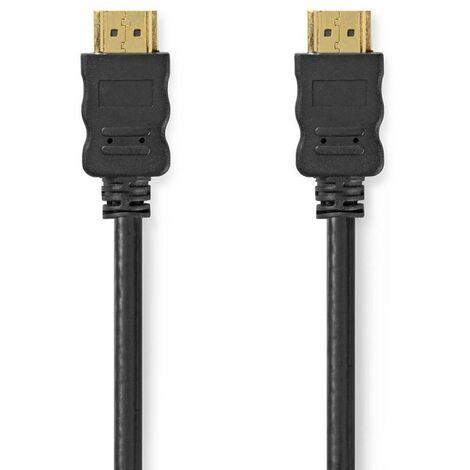 NEDIS Câble HDMI 10M Haute Vitesse avec Ethernet Connecteur HDMI - Connecteur HDMI 10 m Noir