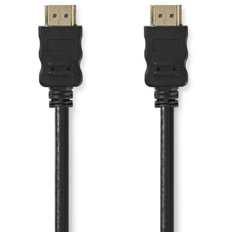 NEDIS Câble HDMI 10M Haute Vitesse avec Ethernet Connecteur HDMI vers Connecteur HDMI 10 m Noir