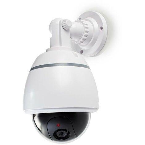 NEDIS Caméra de Sécurité Factice Dôme IP44 Blanc