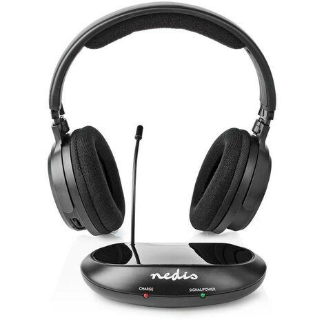 NEDIS Casque sans Fil Fréquence radio (RF) Tour d'oreille Noir