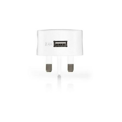 NEDIS Chargeur Mural 2.4 A USB Blanc