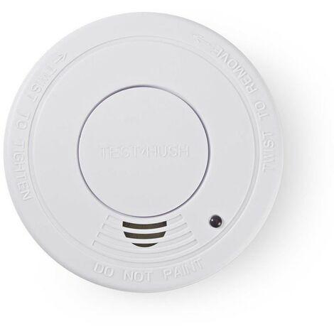 NEDIS Détecteur de Fumée EN14604 Indicateur de niveau faible de batterie