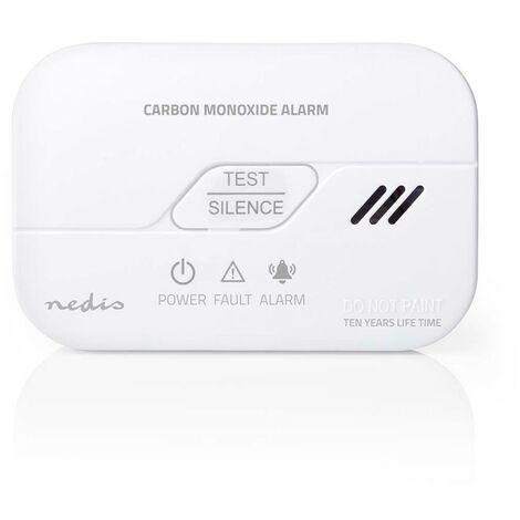 NEDIS Détecteur Monoxyde de Carbone avec alarme 85 dB
