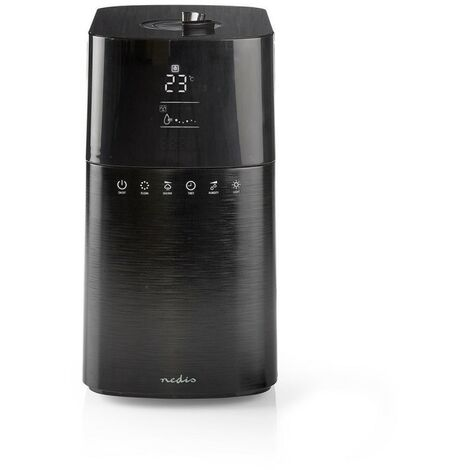NEDIS Humidificateur 6 L Hygromètre Télécommande Noir