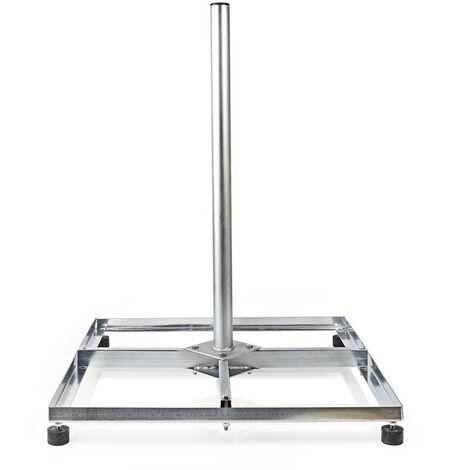 Nedis Soporte de Antena Parabólica para Balcón | Circunferencia Máxima de la Antena: 90 cm | 4 x 30 x 30 cm | Acero NE550687605