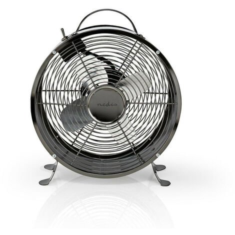 NEDIS Ventilateur de bureau rétro  Diamètre 25 cm  2 Vitesses  Bronze