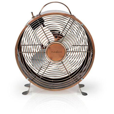 NEDIS Ventilateur de Bureau Rétro  Diamètre 25 cm  2 Vitesses  Cuivre