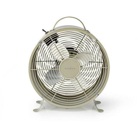 NEDIS Ventilateur de Bureau Rétro  Diamètre 25 cm  2 Vitesses  Gris