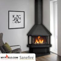 NEKO 17kw - Poêle cheminée métallique - SANEFIRE