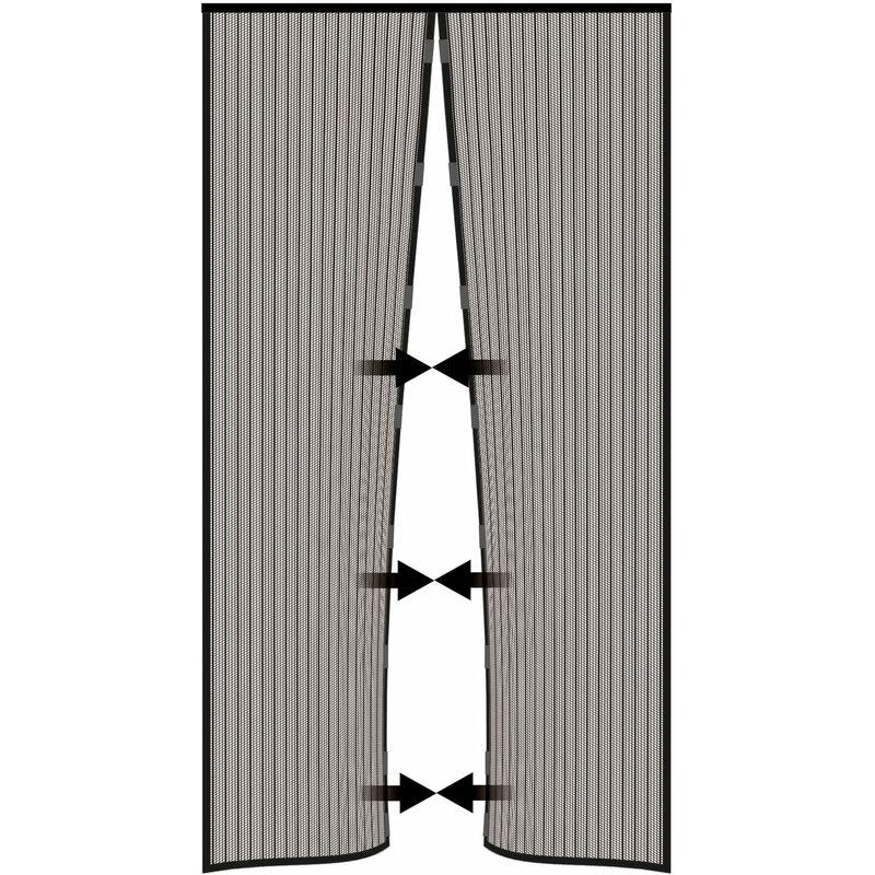 ZFHTAO Fliegengitter T/ür Magnetisch, Magnet Vorhang Insektenschutz f/ür Terrassent/ür Braun 90x230CM