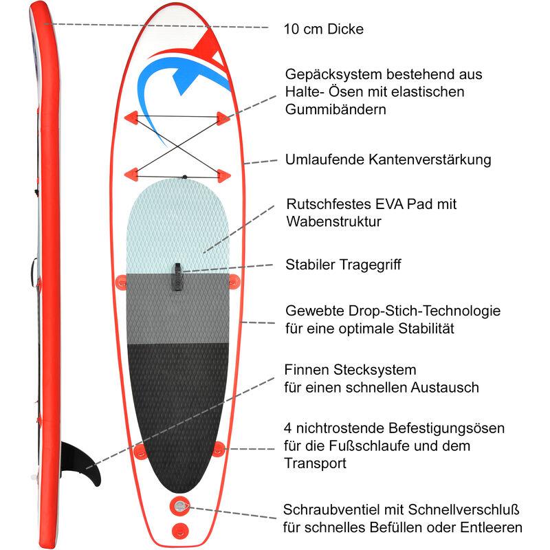 H2o Tabla de Surf de Remo para ni/ños Color Azul Aluminio, 2 Partes