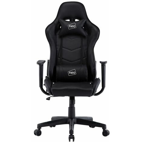 Neo Black Adjustable Racing Gaming Office Swivel Recliner Leather Chair