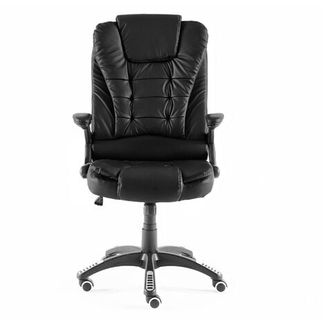 Neo Black Leather Executive Recliner Swivel Office Chair