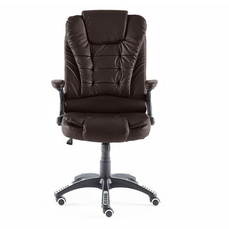 Neo Brown Leather Executive Recliner Swivel Office Chair
