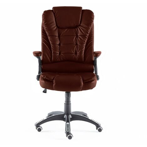 Neo Burgundy Leather Executive Recliner Swivel Office Chair