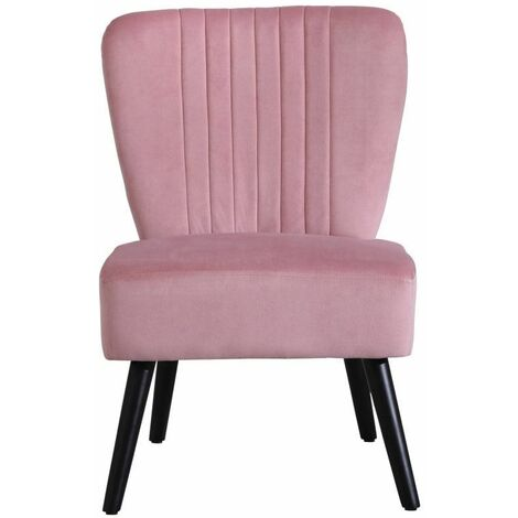 """main image of """"Neo Dusky Pink Crushed Velvet Shell Accent Chair"""""""