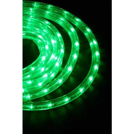 Neo-Neon LED-DL-2W-6M-G Flexible lumineux à LED pour intérieur/extérieur Vert IP44 6 m 2 W / 220 - 240 V Câble de raccordement 1,5 m extensible jusque 100 m